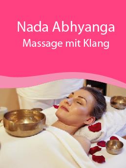 Abhyanga mit Klang Klangschalen Massage Ganzkörpermassage Entspannung