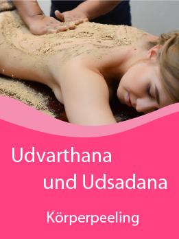 Udvartana Udvarthana Udsadana ayurvedische Pulvermassage Pulverpaste Kräuterpulver